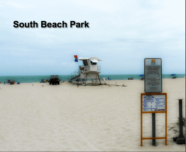 image of view at south beach park tower station and ocean