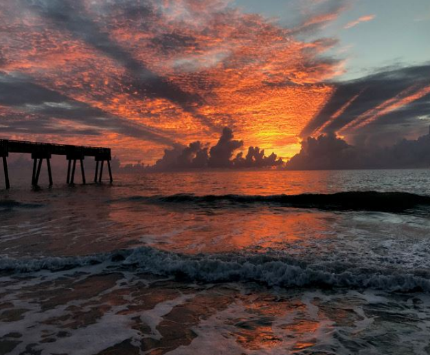 Photograph Of The Pier At Sunrise