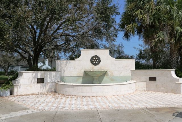 photo of the rotary club fountain in pocahontas park